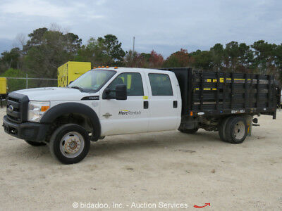 2012 Ford F550 12' Flatbed Stake Bed Body Truck 6.7L V8 Diesel A/C A/T -Repair