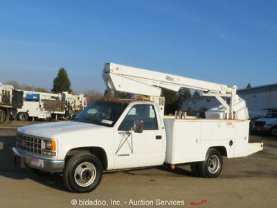 Chevrolet 3500 30' Bucket Truck Aerial Boom Utility Bed PTO V8 5.7L Gas - Repair