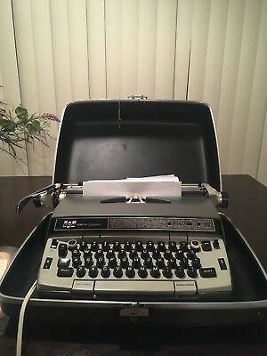 Vintage Smith Corona Electra 120 Electric Typewriter w/ Hard Case, Ribbon