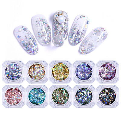 Nail powder Glitter Holographic Irregular Nail Art Decorations