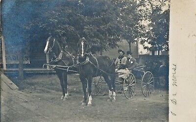 c1908  RPPC Dr. Morse in Horse and Buggy Oregon Real Photo Postcard