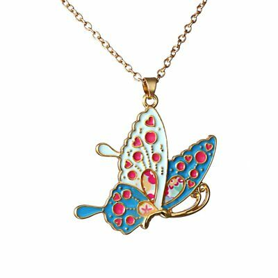 Colorful Insect Butterfly Animal Pendant Necklace Sweater Chain Women Jewelry