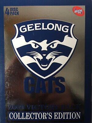GEELONG CATS 2009 AFL VICTORY PACK 4 x DVD Box Set Collector's Edition Exc Cond!