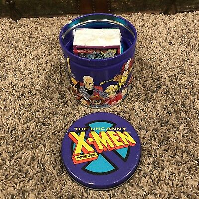 The UNCANNY X-MEN Cards Collector's Tin MARVEL 6063/7500 Limited Edition 1992