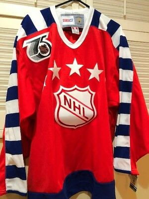 CCM NHL 1991 75th Western Conference Red Throwback Vintage All Star Jersey XL