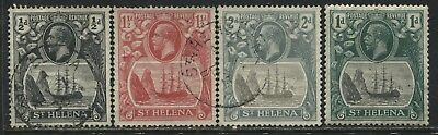 St. Helena KGV 1922 1/2d to 2d used