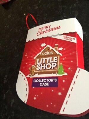 Coles Christmas Little Shop Edition. Full Set With Case - Free Post