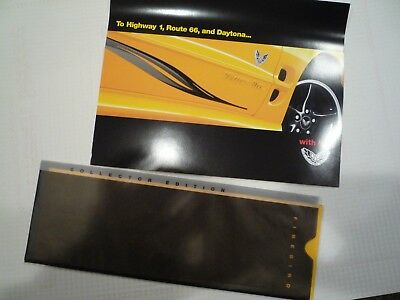 Pontiac Trans Am 35th Anniversary dealer sales brochure and sales card- 2002