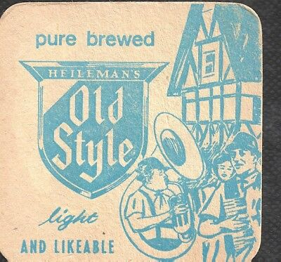 Old beer lable card Old style/Pure brewed 3.25x3.25 in