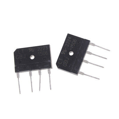 2PCS GBJ1506 Full Wave Flat Bridge Rectifier 15A 600V new _UK