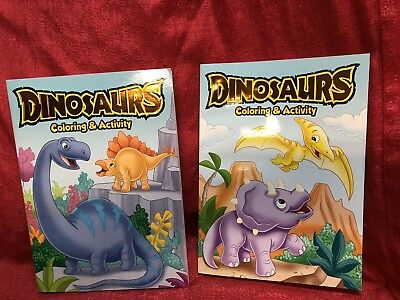 Lot Of 2 Dinosaur Jumbo Coloring & Activity Book Color 3+ Brand New
