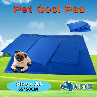 Pet Dog Cat Bed Non-Toxic Cooling Cool Water Gel Mat Summer Pad XL Size 65*50cm