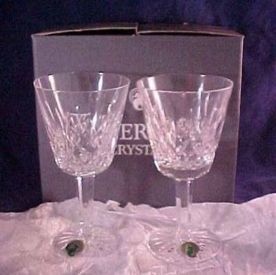 2 Waterford Crystal Lismore Claret Wine Glasses With Box