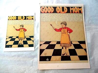 Mary Engelbreit GOOD OLD MOM   poster & greeting card  match RARE COLLECTIBLE