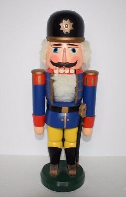 "Vintage NUTCRACKER 12.5"" ERZGEBIRGISCHE Volkskunst SOLDIER German Democratic"