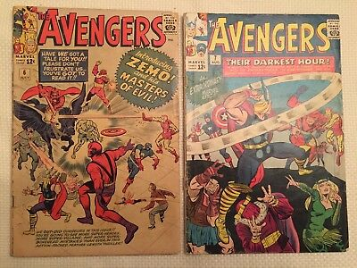 (2) Avengers Comics #6 and #7 Zemo Marvel 1964
