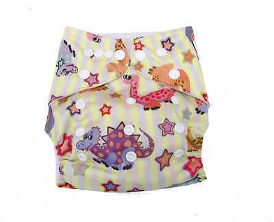 Modern Cloth Reusable Washable Baby Nappy Diaper & Insert, Cool Bird House