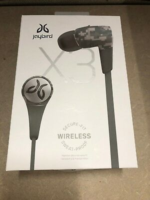 New Jaybird X3 Sport Wireless In-Ear Headphones Camo color - Free Shipping!