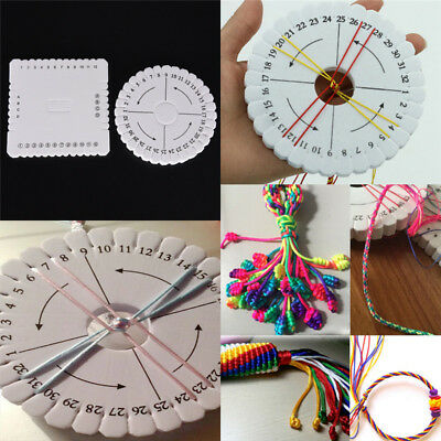 Round Square Handmade Beading Cord Disk Braiding Plate DIY Braided Braided RopJc
