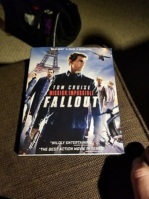 MISSION: IMPOSSIBLE FALLOUT BLU RAY + DVD only.