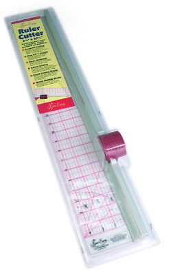 Rotary Cutter/Ruler Combo 45cm/4.5x27.5in Sew/Patchwork/Papercraft Sew Easy