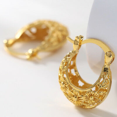 3645b3cbb98b1 NEW LANA JEWELRY Large Flat Magic Hoops 14k Yellow Gold Earrings Big ...