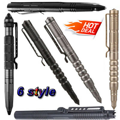 "New 6 Style 6"" Aluminum Tactical Pen Glass Breaker Multifunctional Survival Tool"