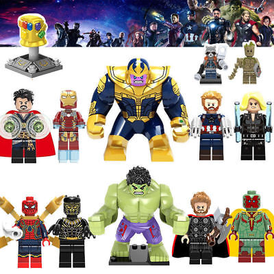 LEGO Minifigures Marvel Avengers Supereroe Thor Hulk Action Figures Kid Boy Toy