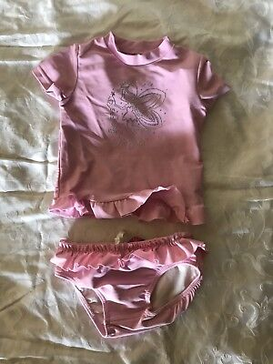 Girls Size 1 Seafolly Rashie With Bottoms