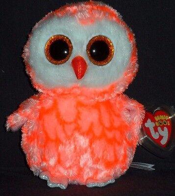 """TY BEANIE BOOS - CORA the 6"""" OWL - JUSTICE EXCLUSIVE - MINT with MINT TAG"""