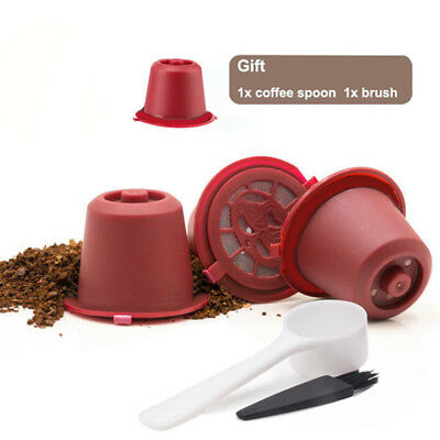 3x Reusable Refillable Coffee Capsule Mesh Filter Pod Set For Nespresso Machine