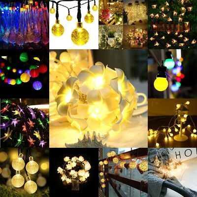 1-22M Battery/Solar LED Wire String Fairy Light Outdoor Wedding Christmas Party