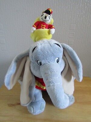 "DISNEY STORE Exclusive Collectable Dumbo and Timothy Mouse Plush 14"" Tall VGC"