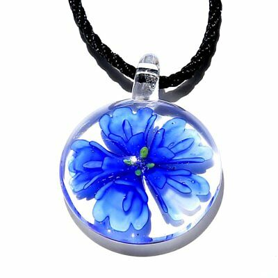 New fashion Murano Lampwork Glass Rope Chain Pendant Necklace Jewelry Party Gift