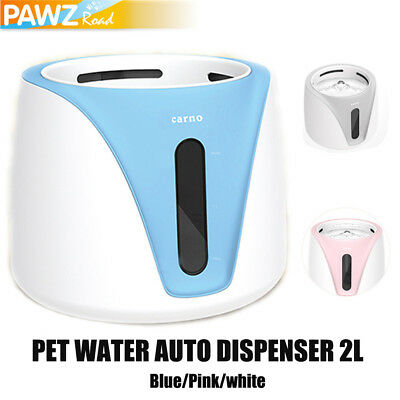 2L Pet Dog Cat Water Dispenser Bowl Fountain Drink Electric Automatic Feeder AU