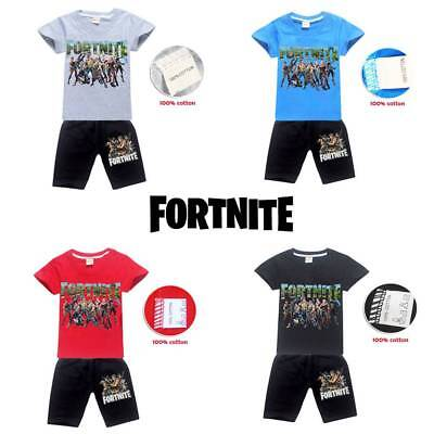 Fortnite Covers Costume Cosplay Casual Pyjamas T shirt +Pants Outsets 4-13Y AU