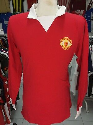5f7e79a55 Shirt Manchester United 1973 (L) 7 George Best Long Sleeve Score Draw Jersey