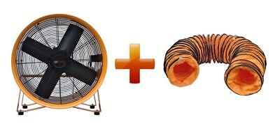 """18"""" 450Mm Cyclone Dust Fume Extractor / Ventilation Fan + 5M Pvc Ducting"""