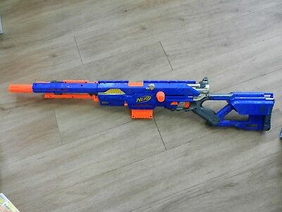 Nerf LongStrike CS-6 Sniper Great Condition Rare Nerf Rifle with Ammo Magazine