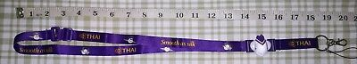 NEW THAI AIRWAYS AIRLINE's Neckstrap/ Lanyard, Purple color, 1 pc.,  Set#3