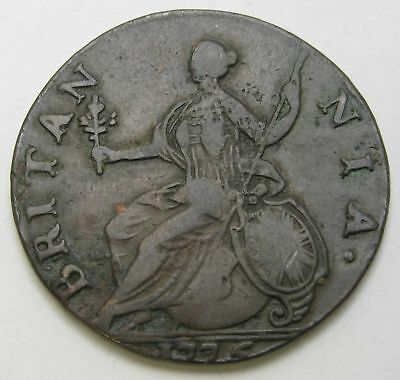 GREAT BRITAIN 1/2 Penny 1775 - Copper - George III. - 3064
