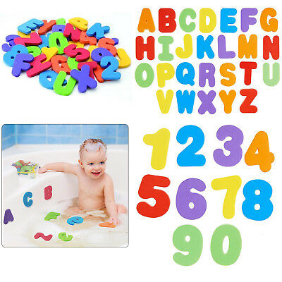 36PC Foam Bath Numbers And Letters Tile Child Baby Kids Toy Storage Water Fun UK