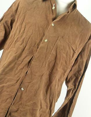 """Wakefield Brown Cotton Mens Casual Shirt Size 16""""/42"""