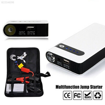 119B E9C8 USB White Multi-Function Portable DIY Car Jump Starter Kit Automobile