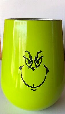 Grinch Wine Tumbler New!   Great Gift