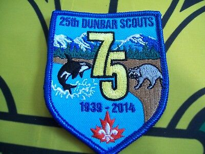 Canadian Scout Badge 25th Dunbar scouts 1939-2014