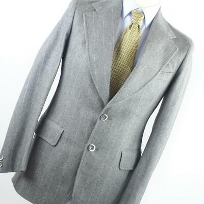 fa13fe512b8 Maple Mens Grey Suit 38 32 Regular Single Breasted Suit Wool Blend Striped