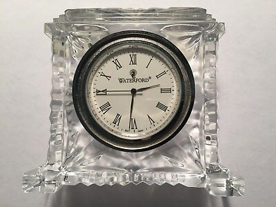 Waterford Pavillion Crystal Clock Made in Ireland