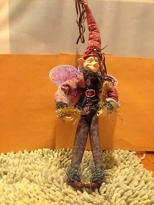 "Christmas Fantasy Fairy-male Elf 14"" Tall Mint Condition"