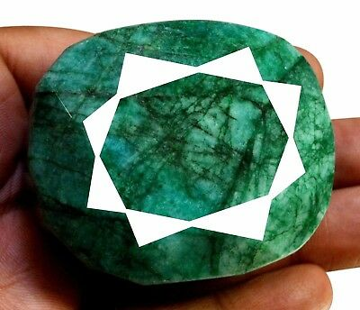 796ct Big Natural Oval Shape Green Emerald Faceted Loose Gemstone On Ebay